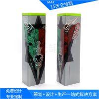 专版茶叶铁盒 三角形马口铁盒 绿茶叶铁盒 铁观音茶叶马口铁盒印刷