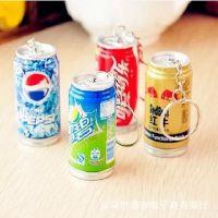韩国文具 创意饮料挂件笔 易拉罐造型圆珠笔 伸缩笔 学生奖品