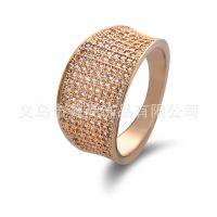 流行欧美奢华精品AAA锆石戒指男女款 速卖通Ebay 供货饰品批发