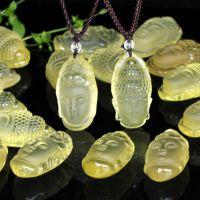 批发巴西天然黄水晶释迦摩尼佛头观音吊坠 正品精工雕刻挂件正品