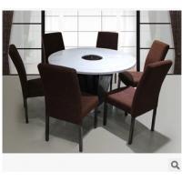 韩式风大理石火锅餐厅桌椅 工艺精湛圆形多人位火锅桌