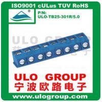 厂家直销 螺钉式PCB 接线端子301R-5.0MM间距 弯针 032ULO/欧路