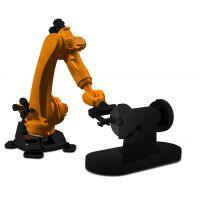 誉洋研发国内进的铸件打磨机器人,高柔性,离线编程,自动换刀,双工位工作台