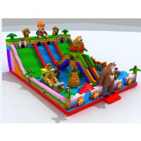 气垫游乐场在西安哪里有卖的 儿童游乐园里的充气汽包厂家 熊出没造型的充气弹跳床