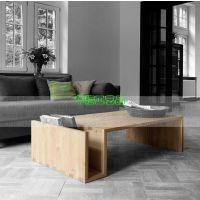 北欧美式乡村纯实木家具复古生态木蜡油茶几 客厅创意桌子可定做