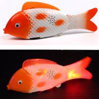 新款电动玩具 自由摇摆鱼 发光音乐鱼 会跑的电动鱼玩具
