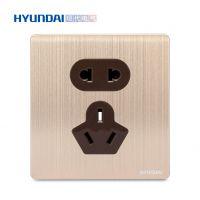 现代开关插座hyundai新款开关插座M70系列一位二三极插座五孔插座