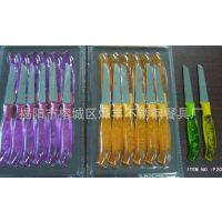揭阳餐具厂家 出口伊朗中东塑料柄12件套不锈钢刀套装 吸塑包装