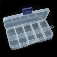 10格盒子电子元件透明塑料盒子/首饰盒/收纳盒