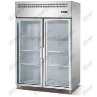 麻辣火锅串串店菜品保鲜柜 雅绅宝不锈钢厨房展示柜 直冷玻璃门冷藏柜