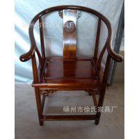 角花圈椅 电脑桌椅 办公 茶椅 中式仿古 实木家具 椅子 054