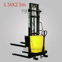 半电动液压升高叉车手推电动升高叉车装卸车堆高车1.5t升高2.5m