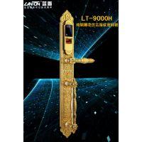 蓝盾指纹锁 LT-9000H 纯铜雕花仿古指纹密码锁 别墅大门锁