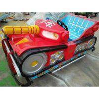 玻璃钢坦克仿真电瓶车价格 110电瓶仿真车 广场儿童俩座电瓶车