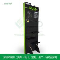深圳厂家专业定制鞋子展示架STD-021鞋子纸质展架,新品宣传专用
