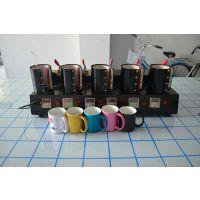 齐彩供应五工位烤杯机杯子个性转印机多工位烤杯机杯子照片