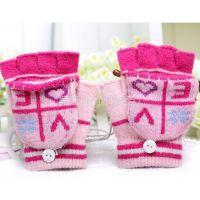 供应红豆正品 冬季保暖兔羊毛分指手套 全指 可爱女士手套A3012