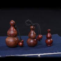 红檀木雕葫芦工艺品复古钥匙扣挂件纯手工浮雕挂饰小礼品批发