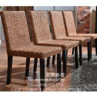 海南三亚餐椅 藤餐椅 编藤椅子 水草餐椅厂家直销7008 酒店藤餐椅