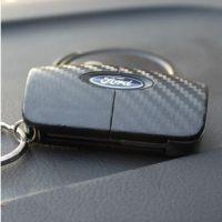 福特车钥匙碳纤维车贴纸 福克斯钥匙贴 嘉年华车贴花 免裁剪
