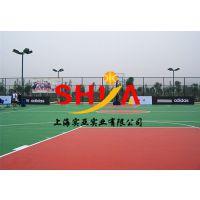 上海实亚塑胶篮球场工程地面