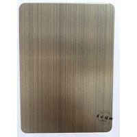 山东专业生产哑光红古铜不锈钢拉丝板 304红古铜哑面加色油发黑做旧