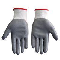 供应霍尼韦尔WE110G2CN涤纶内胆耐油操作手套 劳保挂胶手套