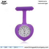 OEM New Hot Selling Silicone Nurse Watch Different Shape Spin Rubber Quartz Pocket Watch For Women Clock