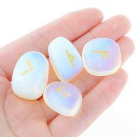 新款 速卖通亚马逊 欧美外贸饰品批发  蛋白石 占卜 rune stones