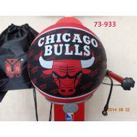 正品斯伯丁篮球73-933橡胶NBA公牛队队徽室外篮球