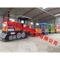 仿古造型无轨小火车游乐设备 许昌创艺迷你游乐设备
