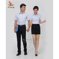 比伦定做短袖职业装 上海女白领工作服 实拍有模特 女式衬衫BL-NS21