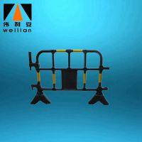 WLA厂家直销PE塑料黑胶马 交通安全护栏施工围栏 活动栏交通设施