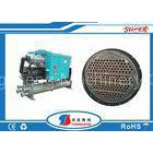 50Hp R134A Water Cooled Screw Chiller , Screw Compressor Chiller ISO Certification