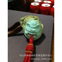 《供应》绿松石手把件 富贵缠身(蝠龟) 成功之石 幸运之石