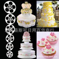 DIY烘培蛋糕工具 模具 6PCS 梅花塑料饼干模 玫瑰花水果切模
