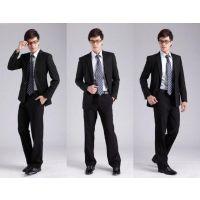 2015男士商务西装三件套男套装修身青年设计定做