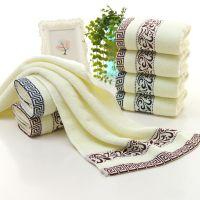 厂家直销弱捻提花青花瓷100克加厚纯棉毛巾创意礼品毛巾可加LOGO