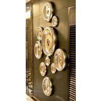 厂家供应各类风格不锈钢壁饰 来图订做特色创意售楼处挂件
