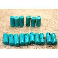 天然绿松石批发 10*25桶珠 佛珠手链专用饰品配件 厂家直销