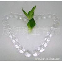 天然水晶珠 水晶项链 天然白水晶 水晶首饰 批发 欣妍珠宝首饰