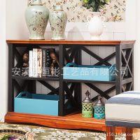 铁艺地中海家具门厅玄关柜玄关桌实木玄关台条案几装饰台端景台