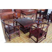 非酸福禄寿茶桌定做实木家具价格、东昂木雕款式、红木家具图片