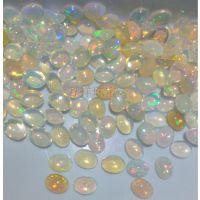 特价 批发 贵蛋白石  天然 彩色  欧泊 素面 6*8mm 裸石