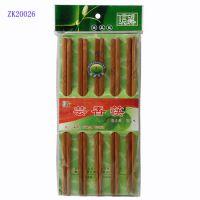 批发商超专供碳化10双装竹筷餐具信望品牌厂家直销质优价廉