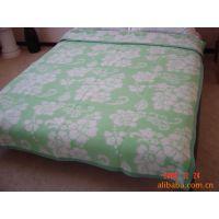 高档柔软绿色粉色蓝色提花款式毛毯