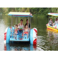 水上四轮脚踏船 自排水 脚踏省力 乘坐4人 玻璃钢制造 不锈钢配件