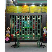 林昊玻璃生产ktv酒吧钳口造型玻璃 玻璃酒柜