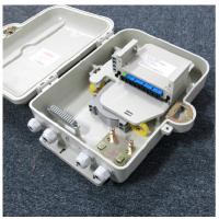 新款中性1分16分光箱16芯SMC分纤箱,FTTH1分16插片式光分路器箱,光纤分线箱