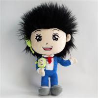 厂家定制毛绒玩具人偶娃娃 大型企业华侨集团形象吉祥物公仔来图来样
